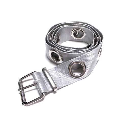 silver nylon belt
