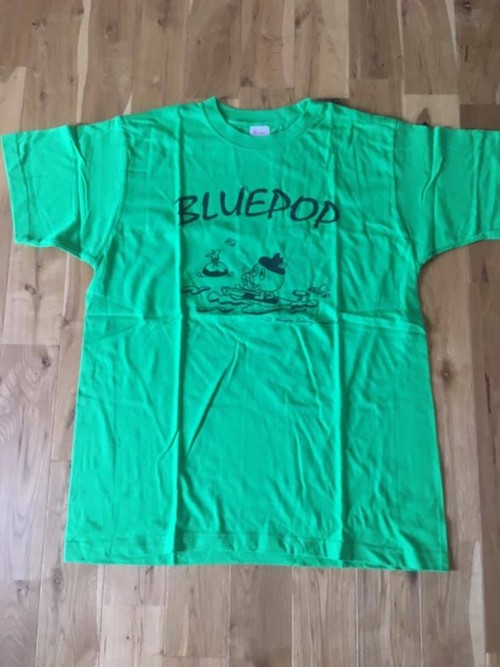 ブルーポップSUP Tシャツ(ライトグリーン)半袖 ヘビーウエイト