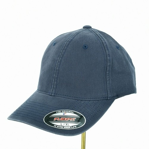 6745AG Flexfit NAVY Garment Washed Cotton Dad Hat