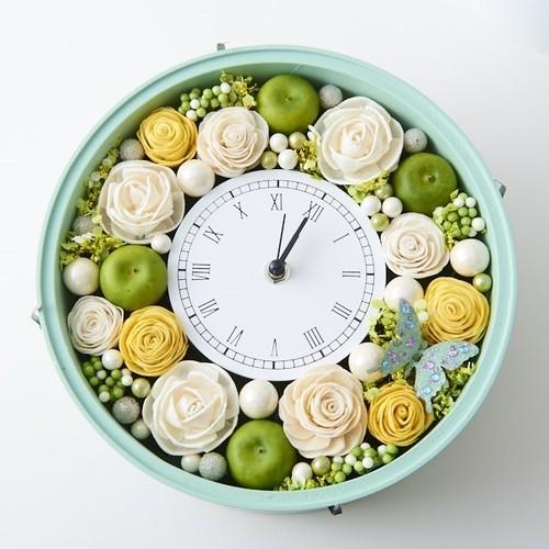 ビタミンカラーとグリーンアップル♪花時計(Apple・version)【特別ご奉仕】