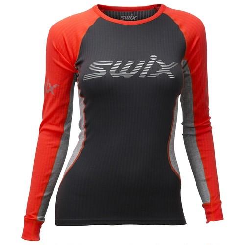 SWIX(スウィックス) Radiant レースX LS 長袖 レディース 40606-90015 ベースレイヤー インナー トレッキング アウトドア スポーツ ジム フィットネス ランニング ウェア