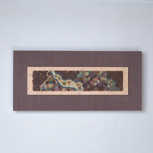 草木染紙縒り額絵 『 秋のたのしみ 』