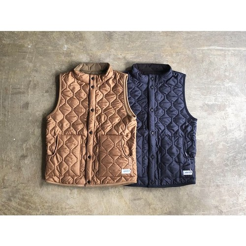 ARMEN (アーメン) HEAT QUILT  NYLON×FLEECE REVERSIBLE VEST