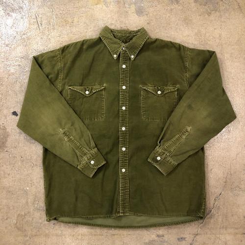 J.crew Corduroy Khaki Shirts ¥6,200+tax