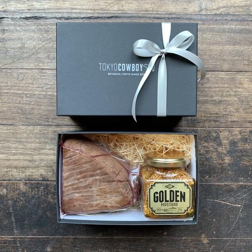 TCB x GOLDEN MUSTARDコラボ商品(和牛ローストビーフとゴールデンマスタード詰合せ)