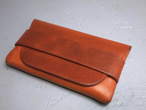 内縫いカードケース ブラウン