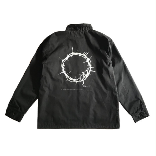 ILL IT - CIRCLE COACH JACKET (BLACK) -