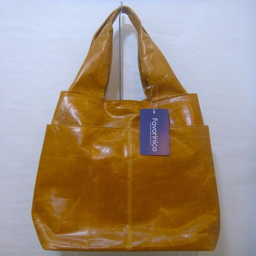 Wide Cube Tote [Camel] NO.FK15362