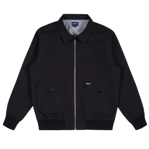 Utility Twill Bomber Jacket(Black)