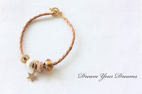 Leather Charm Bracelet /Gold・Silver ブレスレット