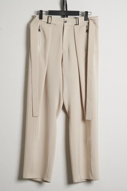 Waist Buckle Wide Pants / Beige [21SS COLLECTION] ※受注終了