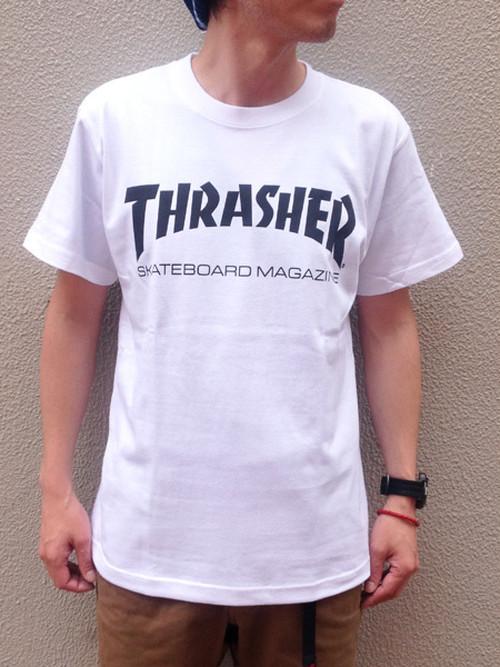 THRASHER (スラッシャー) MAG-LOGO Tee ホワイト