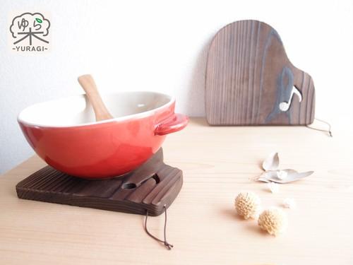 [単品]【ひも付き】ピアノ 鍋敷き Sサイズ   ~発表会記念品として♪~