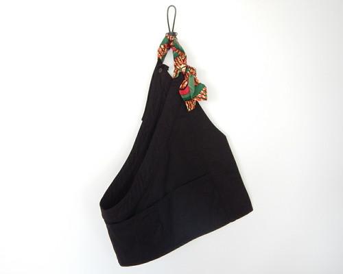 サコッシュ トップス (black × african batik GREEN)