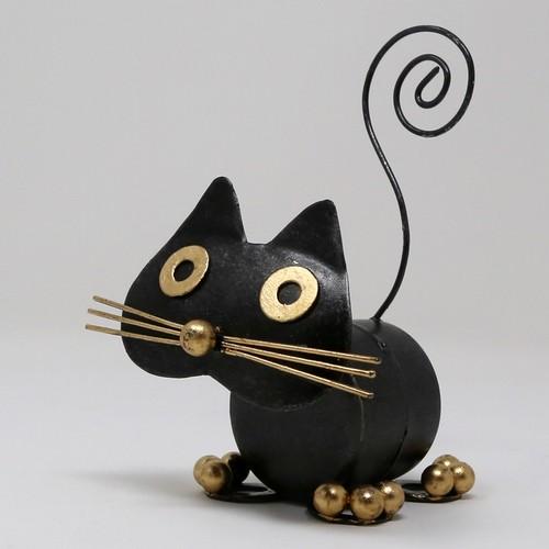 猫カードホルダー(おとぼけクロネコ)