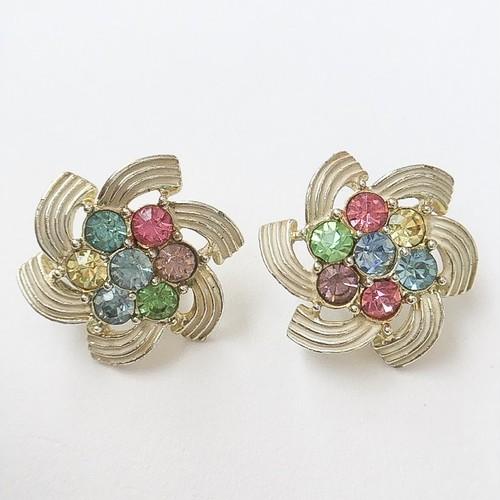 """""""SARAH COV"""" pastel flower earring[e-702]"""