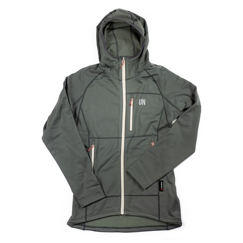 UN3100 Mid weight fleece hoody / Charcoal
