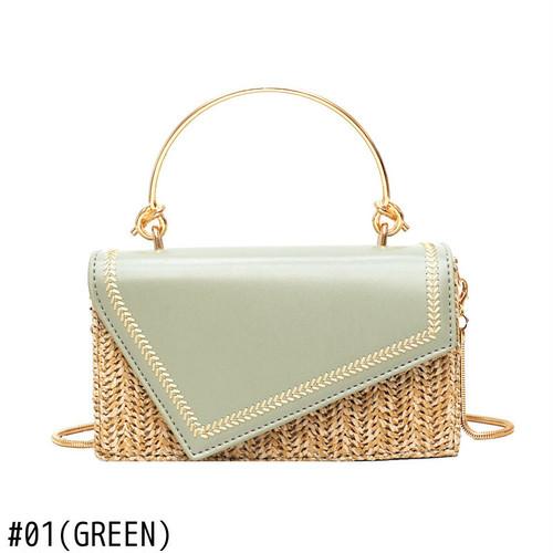 Straw Flap Bag Beach Shoulder Bag Messenger Bag Sac サマー 夏物 ショルダーバッグ ビーチ メッセンジャーバッグ (HF0-1241986)