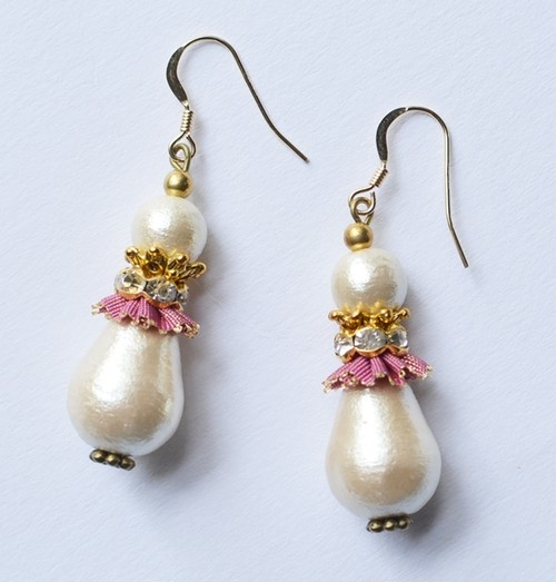Cotton Pearl Earrings