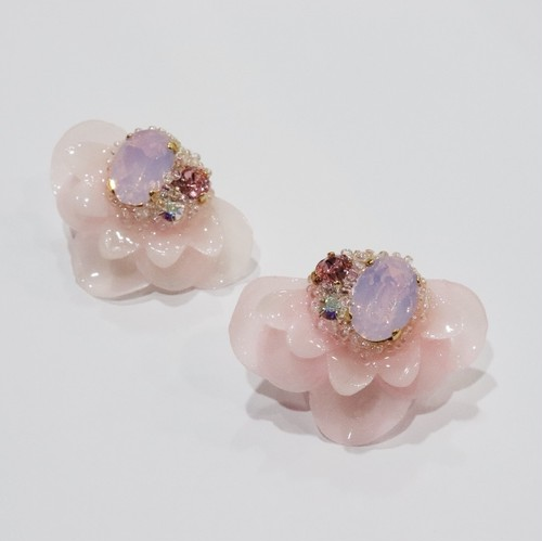【ピアス.1】phantomFLOWER crystal