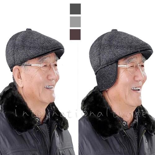 予約 メンズ帽子 耳あて付き ハンチング キャップ ハンチング帽 男性 紳士 キャスケット メンズファッション メンズハンチング 紫外線対策 ツイード 寒さ対策 あったか 耳当て 防寒 秋 冬 おじいちゃん 敬老の日 父の日 ブラック 黒 グレー ベージュ おしゃれ オシャレ cw-a-4972