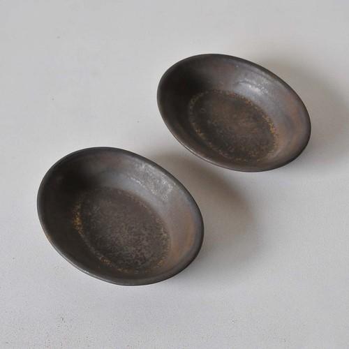 鈴木史子 楕円鉢(小) 黒(012)