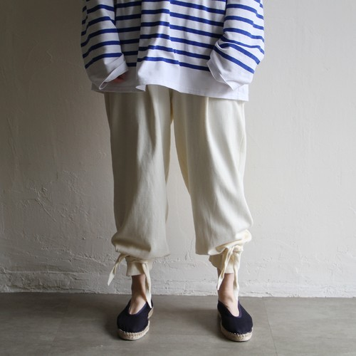TENNE HANDCRAFTED MODERN 【 womens 】knit tuck pants with ribbon