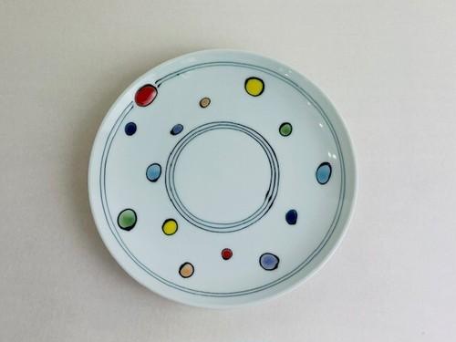 水玉 6寸皿
