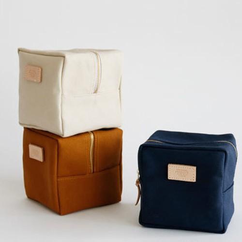 【富士金梅】 Canvas Cube Pouch