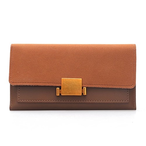 Long Wallet PU Leather Purse Card Holder Wallet Color Clutch ロング レザー 財布 パスケース ウォレット (HF99-5271699)