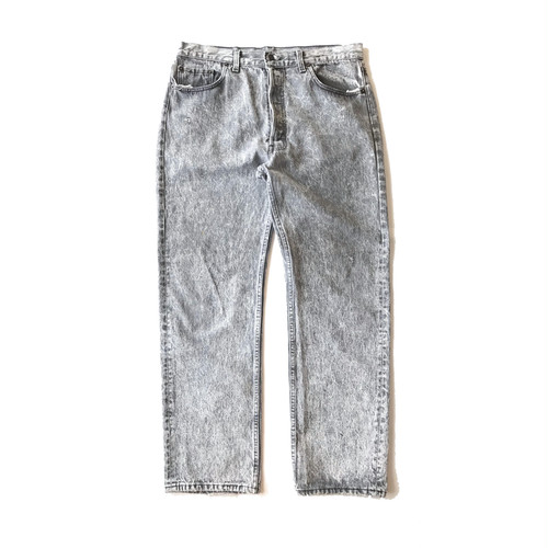 """"""" Levi's """" (Made in U.S.A.)  Chemical Washed Denim Pants"""