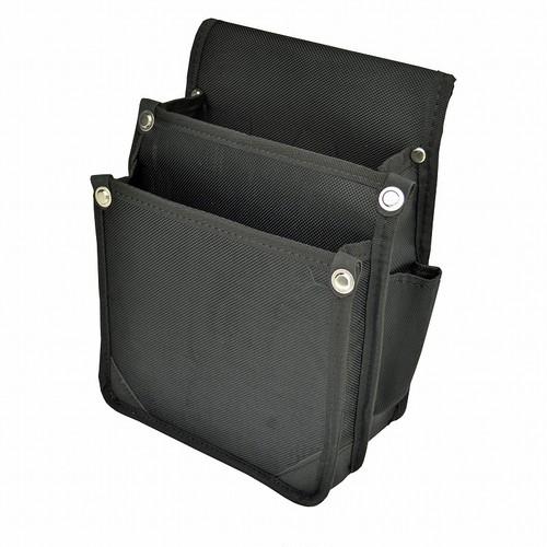 マルキン印 内側ポケット付ナイロン腰袋 A 黒