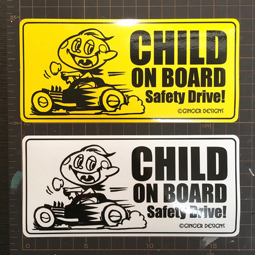"""CHILD ON BOARD"" ステッカー"