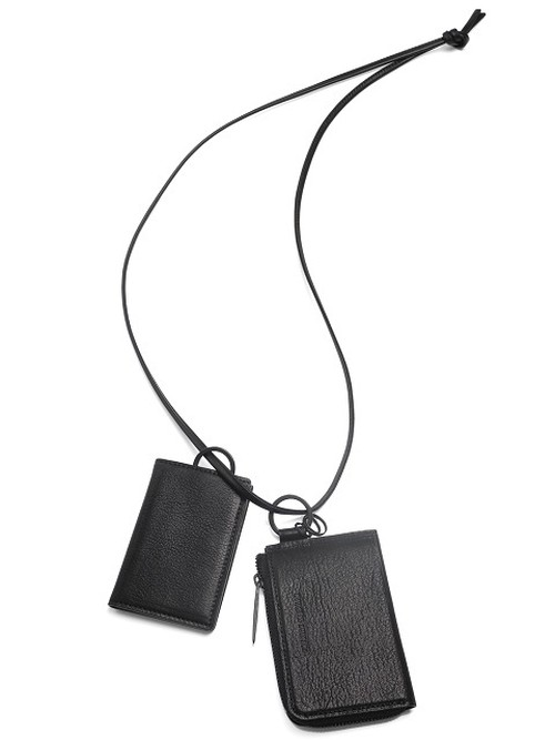 Leather wallet & card case 'empty-handed' ネックウォレット 183AWA06