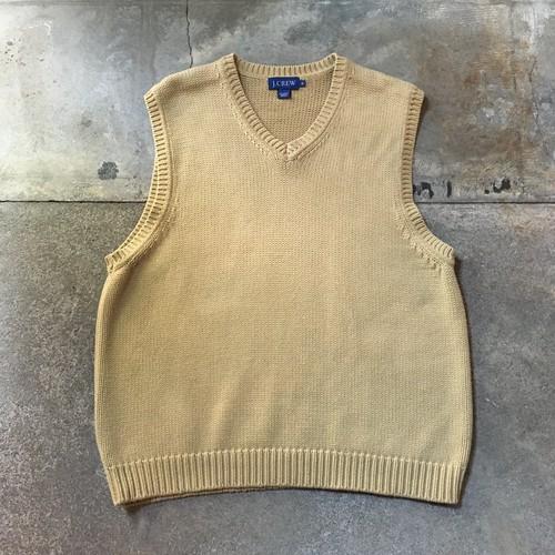 00s J.Crew Cotton Knit Vest