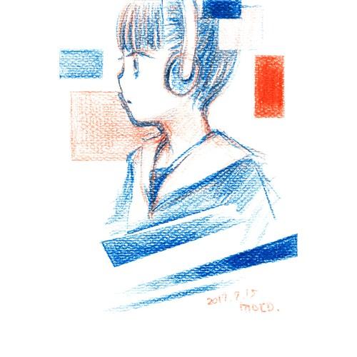 赤青鉛筆ドローイング 56