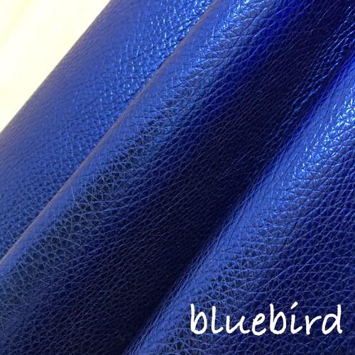 【レザー】カルトナージュ用イタリア製本革 36cm×36cm  bluebird(鮮やかラメブルー)