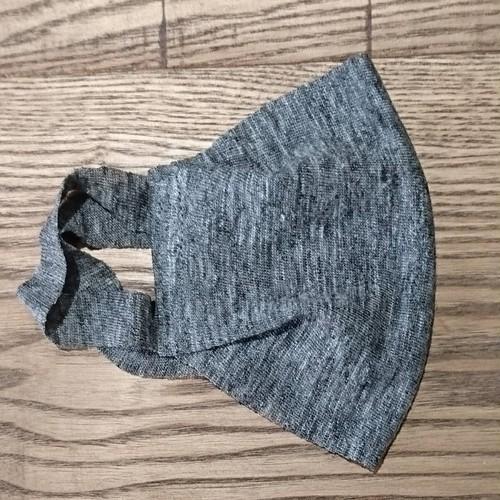 【2枚組】マスク麻ニット一重仕立て グレイ杢