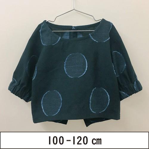 バルーン袖のボートネックトップス 100-120