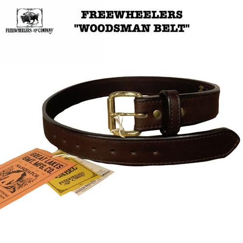 """WOODSMAN BELT"" FREEWHEELERS / フリーホイーラーズ Great Lakes GMT. MFG. CO Lot 1937001 / 4size LEATHER/レザー/ベルト/カウハイド"