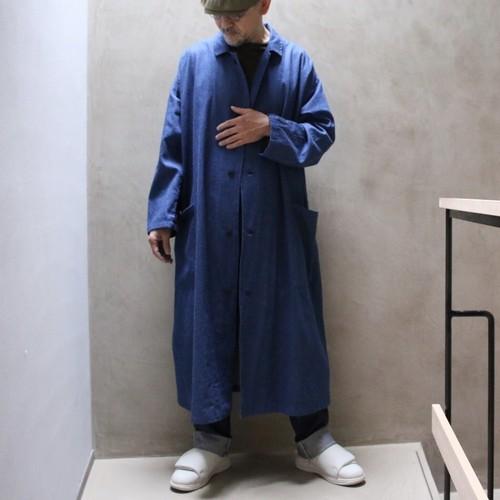 Yarmoヤーモ Lab coat ラボコート indigo
