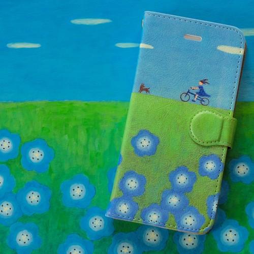 手帳型ハイクオリティiPhoneケース『ピクニック』for 6 Plus/6s Plus/7 Plus
