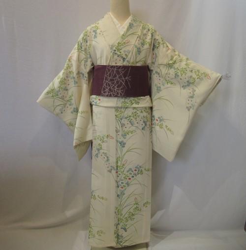 1901夏用絽小紋と麻名古屋帯セット