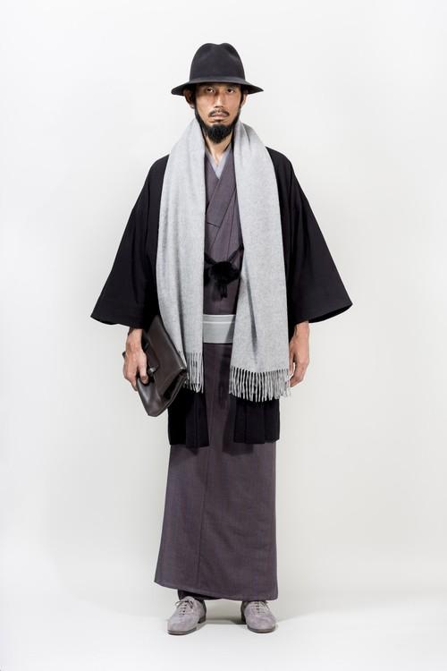 きもの / 片貝木綿 / 雨縞 / 赤紫(With tailoring)