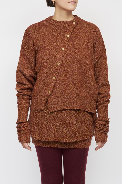 Layered Pullover -  MIX RED