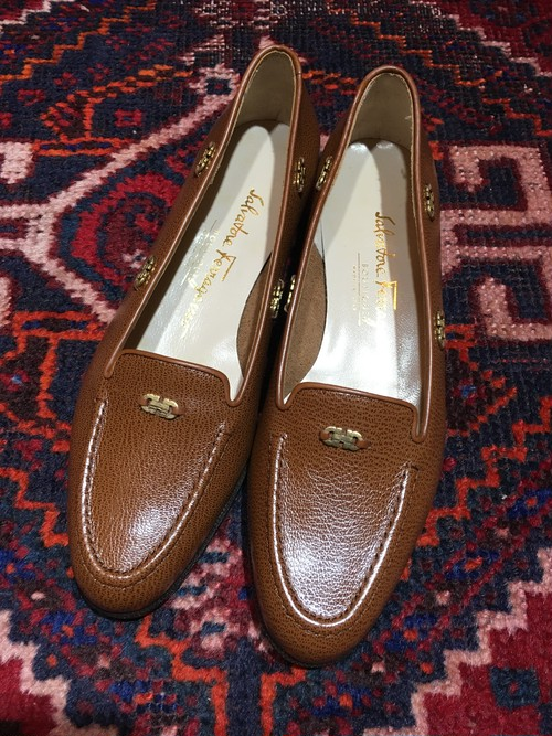 .Salvatore Ferragamo GANCHINI LOGO LEATHER PUMPS MADE IN ITALY/サルヴァトーレフェラガモガンチーニロゴレザーパンプス 2000000029641