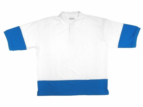 S/S POLO SHIRTS WHITE×BLUE 18AW-FS-28