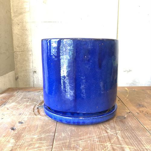 【数量限定人気のセラミックポット・鉢】VITROビトロ エンデガ 9号(受け皿付き)ブルー