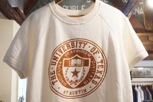 "70's raglan short sleeve Sweat ""UNIVERSITY OF TEXAS"""