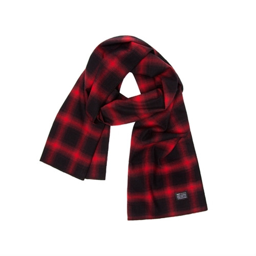 HUF SHADOWPLAID SCARF RED